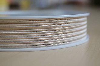 Galantéria - Šujtášová šnúrka béžová 3mm, 0.25€/meter - 7931813_