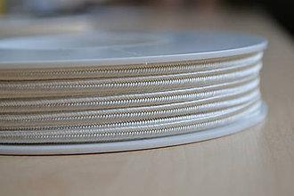 Galantéria - Šujtášová šnúrka slonovinová kosť 3mm, 0.25€/meter - 7931846_