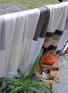 Úžitkový textil - Hnedastá deka - 7933883_