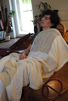 Úžitkový textil - Svetlá mäkká prikrývka - 7933976_