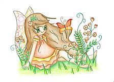 Kresby - Motýľová Matylda - jarná víla - 7931506_