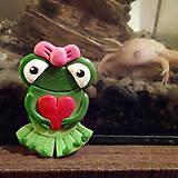 Magnetky - Zamilovaná žabka - magnetka - 7934295_
