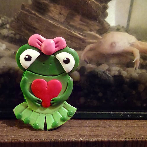 Zamilovaná žabka - magnetka