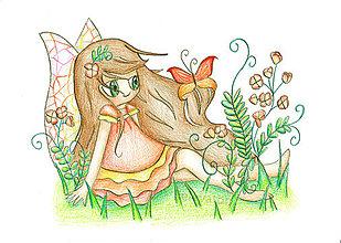 Kresby - Jarné víly (Motýľová Matylda) - 7931506_