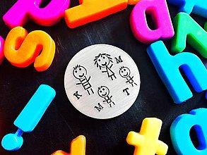 Kľúčenky - MAGNETKA / krúžok s Tvojím textom - 7938512_