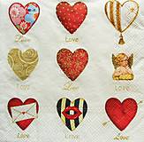 Papier - S948 - Servítky - srdce, láska, love, heart, romantika - 7935989_