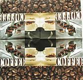 Papier - S950 - Servítky - coffee, káva, kafe, zrnko, šálka, café, lyžička - 7936196_