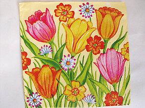 Papier - servítky kvety 14 - 7937185_
