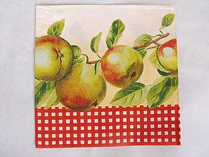 Papier - servítky jablká - 7937191_