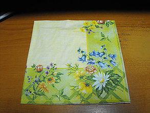 Papier - servítky kvety 16 - 7937264_