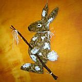Dekorácie - Zajac šibač - 7938574_
