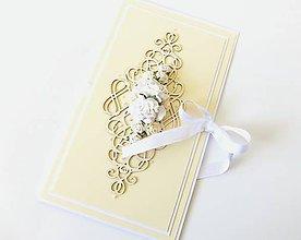 Papiernictvo - darčekový obal / pohľadnica svadobná - 7934881_