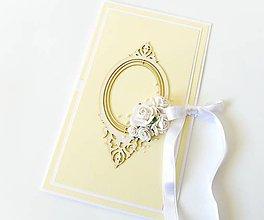 Papiernictvo - darčekový obal / pohľadnica svadobná - 7934944_