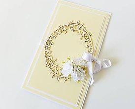 Papiernictvo - darčekový obal / pohľadnica svadobná - 7935050_