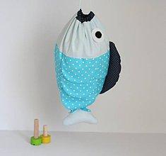 Detské tašky - VRECÚŠKO na hračky, (tyrkysové) - 7935133_