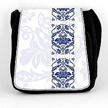 Iné tašky - Taška na plece L modrý ornament folk 2 - 7938587_