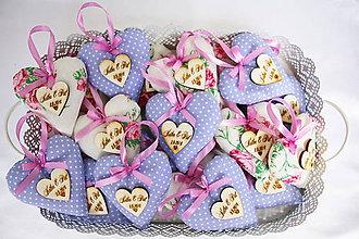 Darčeky pre svadobčanov - svadobné levanduľové srdiečka - 7937582_