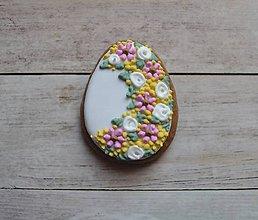 Dekorácie - Medovníkové veľkonočné vajíčka - mini - 7937753_