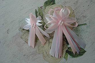 Pierka - Veľké svadobné pierko,bielo-ružové - 7937101_