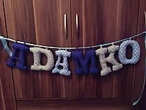 Detské doplnky - Písmenka na stenu/ dvere - 7935811_