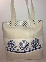 Plátenná taška s výšivkou folk