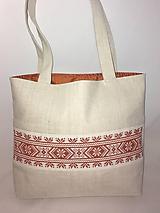 Plátenná taška s výšivkou