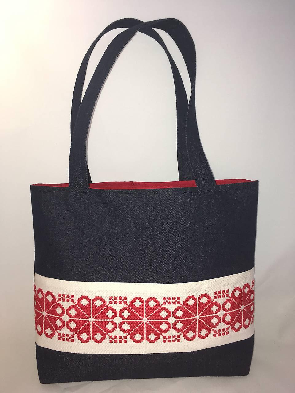 Riflová taška s ľudovou výšivkou   TASKYODMARUSKY - SAShE.sk ... 80842968718