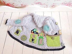 Detské oblečenie - Kabátik a ušianka-Domy z kolekcie Spring Little Bunny - 7936283_