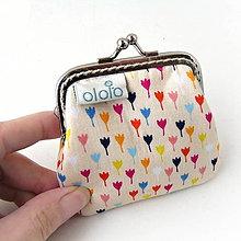 Peňaženky - Peňaženka mini Farebné tulipány - 7934745_