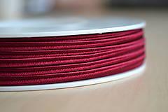 Šujtášová šnúrka krvavá červená 3mm, 0.22€/meter