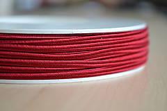 Šujtášová šnúrka červená 3mm, 0.22€/meter