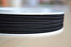 Šujtášová šnúrka čierna 3mm, 0.22€/meter