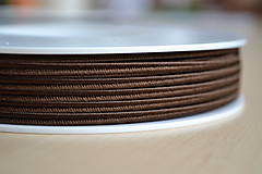 Šujtášová šnúrka čokoláda 3mm, 0.22€/meter