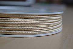 Šujtášová šnúrka zlatá 3mm, 0.24€/meter