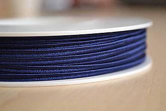 Galantéria - Šujtášová šnúrka námornícka modrá 3mm, 0.22€/meter - 7934839_