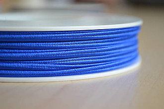 Galantéria - Šujtášová šnúrka kráľovská modrá 3mm, 0.22€/meter - 7934842_