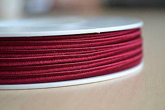 Galantéria - Šujtášová šnúrka krvavá červená 3mm, 0.22€/meter - 7934906_