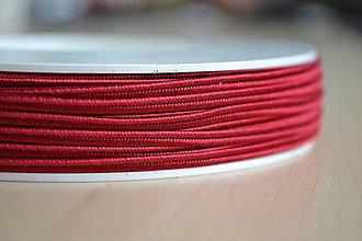Galantéria - Šujtášová šnúrka červená 3mm, 0.22€/meter - 7934919_