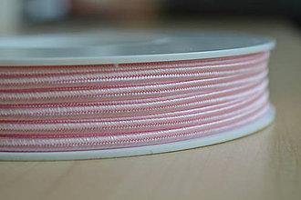 Galantéria - Šujtášová šnúrka cukríková ružová 3mm, 0.22€/meter - 7934998_