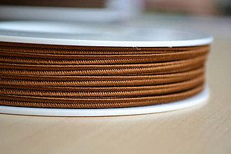 Galantéria - Šujtášová šnúrka hnedá 3mm, 0.22€/meter - 7935054_