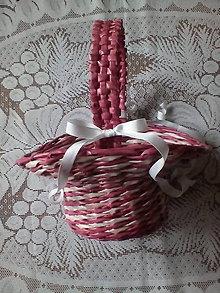 Košíky - Košíček pre malú družičku - 7935439_