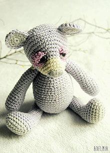 Hračky - háčkovaný medvedík levanduľkový - 7938471_