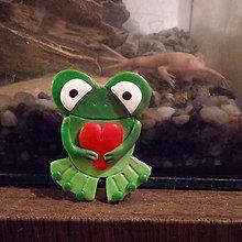 Magnetky - Žabky magnetky (Zamilovaný žabiak) - 7935426_