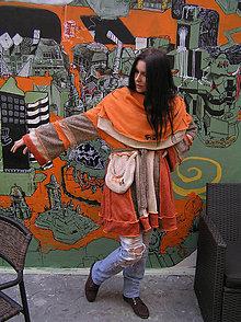 Svetre/Pulóvre - hippie-color-orange mini  LEL - 7941254_