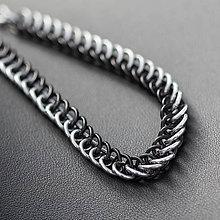 Šperky - Z poloviny úplný - pánský černostříbrný - 7939474_