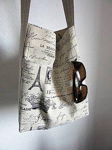 Kabelky - Ľanová taška-kapsa Paris - 7939688_