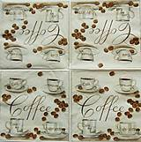 Papier - S953 - Servítky - café, káva, coffee, laté, cappuccino, zrnko - 7938767_