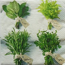 Papier - S951 - Servítky - herbs, bylinky, bazalka, mäta, rozmarín, tymián - 7938719_
