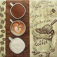 Papier - S954 - Servítky - káva, coffee, café, šálka, cappuccino, pen - 7938773_