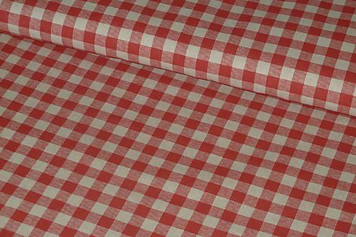 7a7e076bb Látka Červená kocka na režnej / SlovAB - SAShE.sk - Handmade Textil